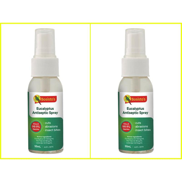 Bosisto's Antiseptic Spray Multi Purpose Sanitising Twin Pack