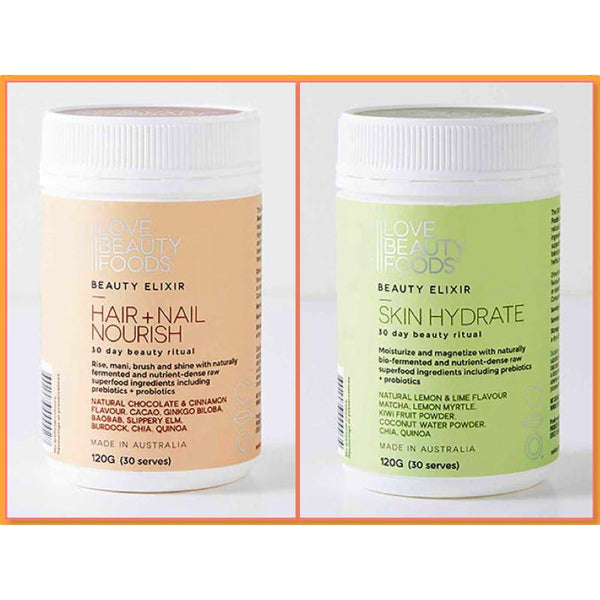 Love Beauty Foods Skin Hair & Nail Beauty Supplement Twin Pack