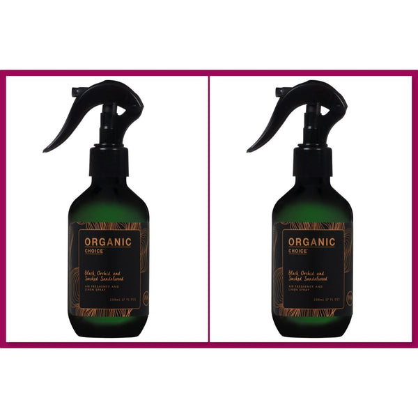 Organic Choice Black Orchid & Smoked Sandalwood Room & Linen Spray Twin Pack mybbbounce