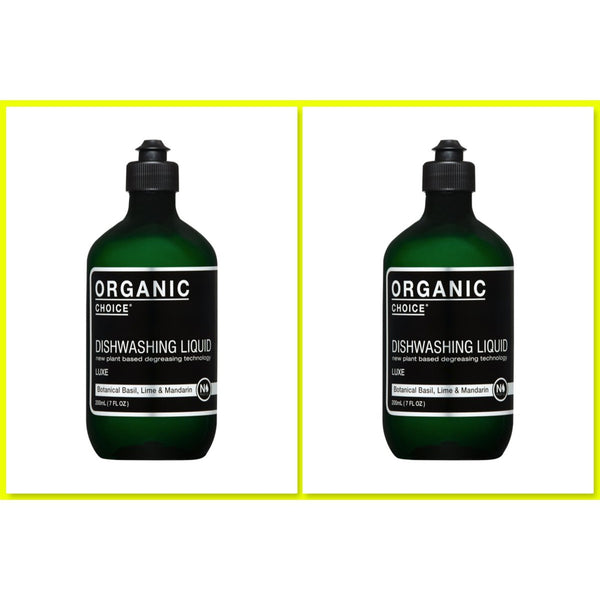 Organic Choice Dishwashing Liquid Botanical Basil, Lime & Mandarin TWIN VALUE PACK mybbbounce.com