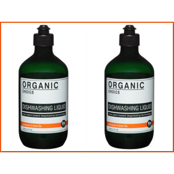 Organic Choice Lemongrass & Green Tea Dishwashing Liquid Twin Pack mybbbounce
