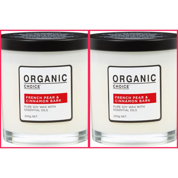 Organic Choice French PEar & Cinnamon Bark Soy Candles mybbbounce