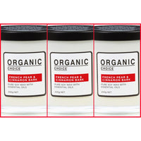 Organic Choice French Pear & Cinnamon Bark Pure Soy Candle TRIO mybbbounce.com