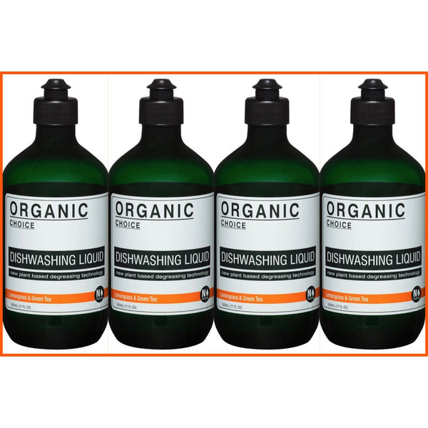 Organic Choice Lemongrass & Green Tea Dishwashing Liquid Value Packs