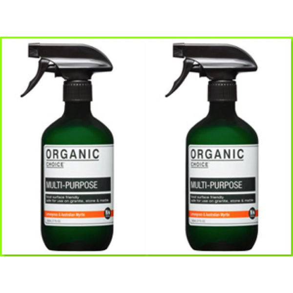 Organic Choice Lemongrass & Australian Myrtle Multi Purpose Cleaner Twin Pack mybbbounce
