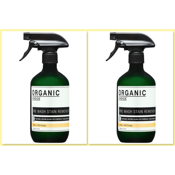 Organic Choice Pre Wash Stain Remover Lemon & Wild Orange TWIN PACK mybbbounce.com