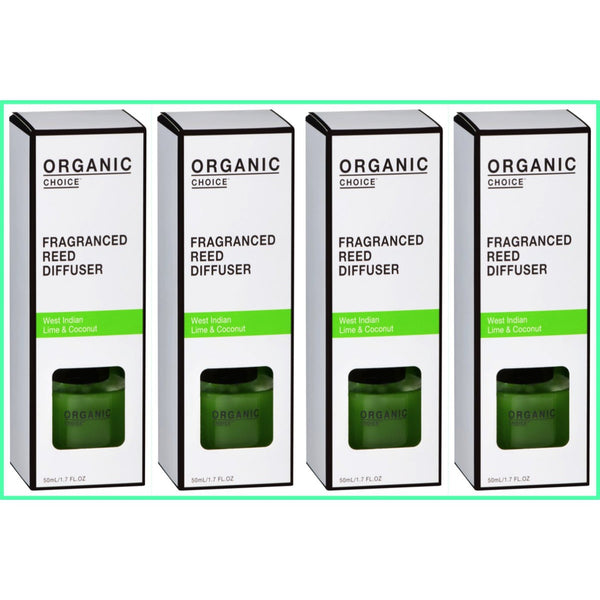 Organic Choice  West Indian Lime & Coconut Fragranced Reed Diffuser Value Packs mybbbounce