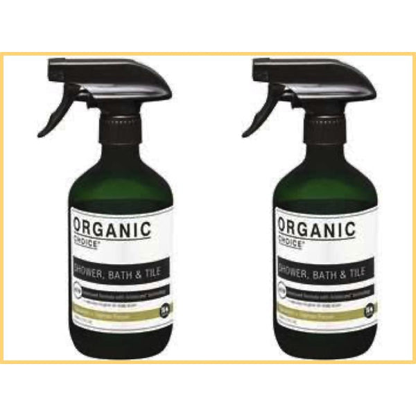Organic Choice Shower Bath & Tile Cleaner Spearmint & Tasman Pepper Twin Pack mybbbounce