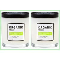 Organic Choice West Indian Lime & Coconut Pure Soy Candle Twin Pack mybbbounce