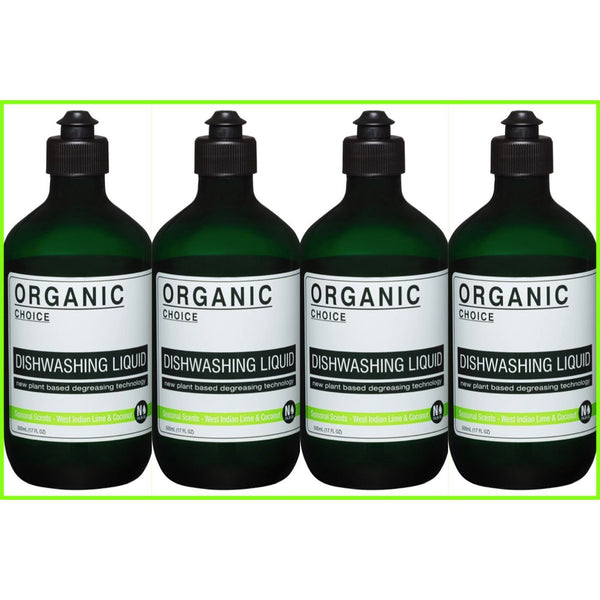 Organic Choice West Indian Lime & Coconut Dishwashing Liquid Value Packs