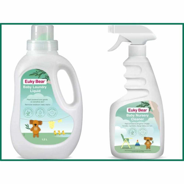 Euky Bear Nursery Duo Pack- Laundry Liquid & Baby Safe Disinfectant-Euky Bear-BB Bounce