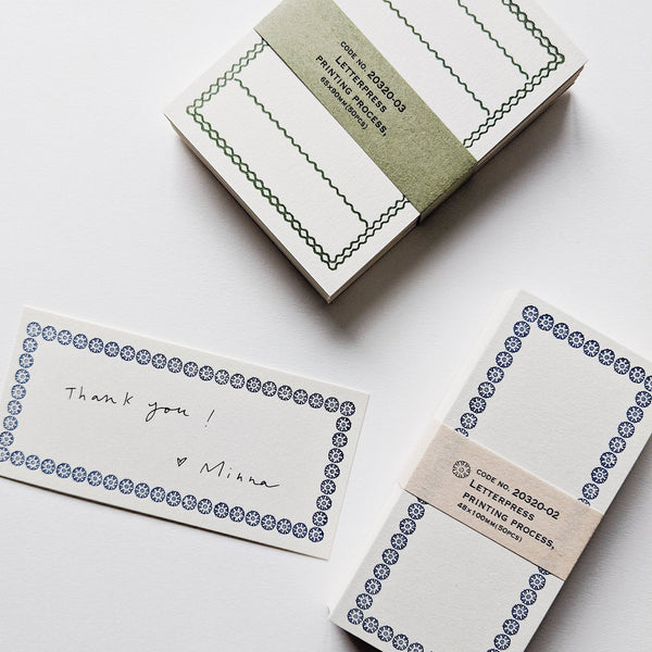 Classiky Letterpress Memo Note Cards