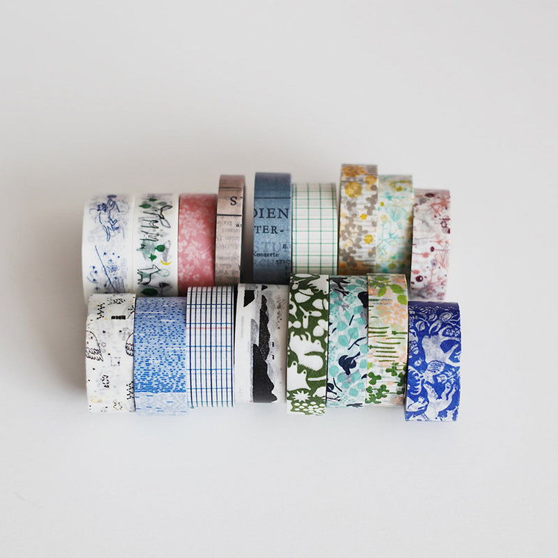 Ten to Sen Green Forest Classiky Washi Tape