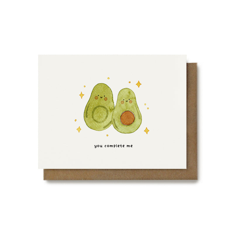 You Complete Me Avocado Pun Card