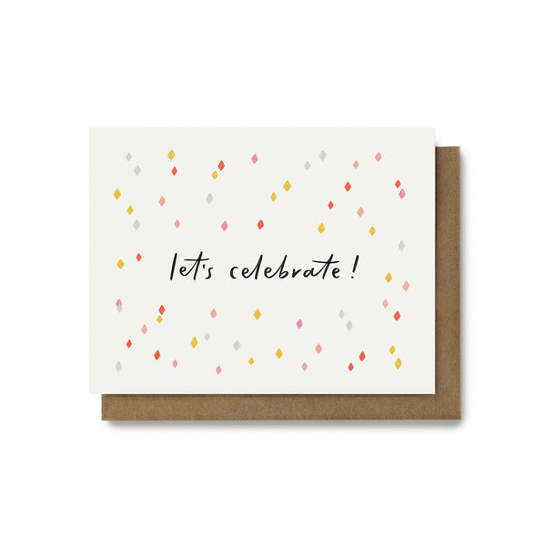 Let's Celebrate Confetti Card