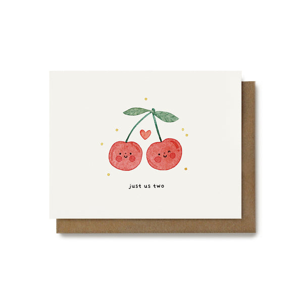 Just Us Two Cherry Card
