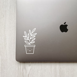 Cute Happy Plant Decal