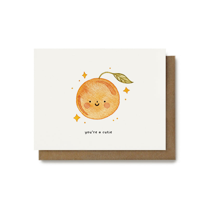 You're a Cutie - Food Pun Card