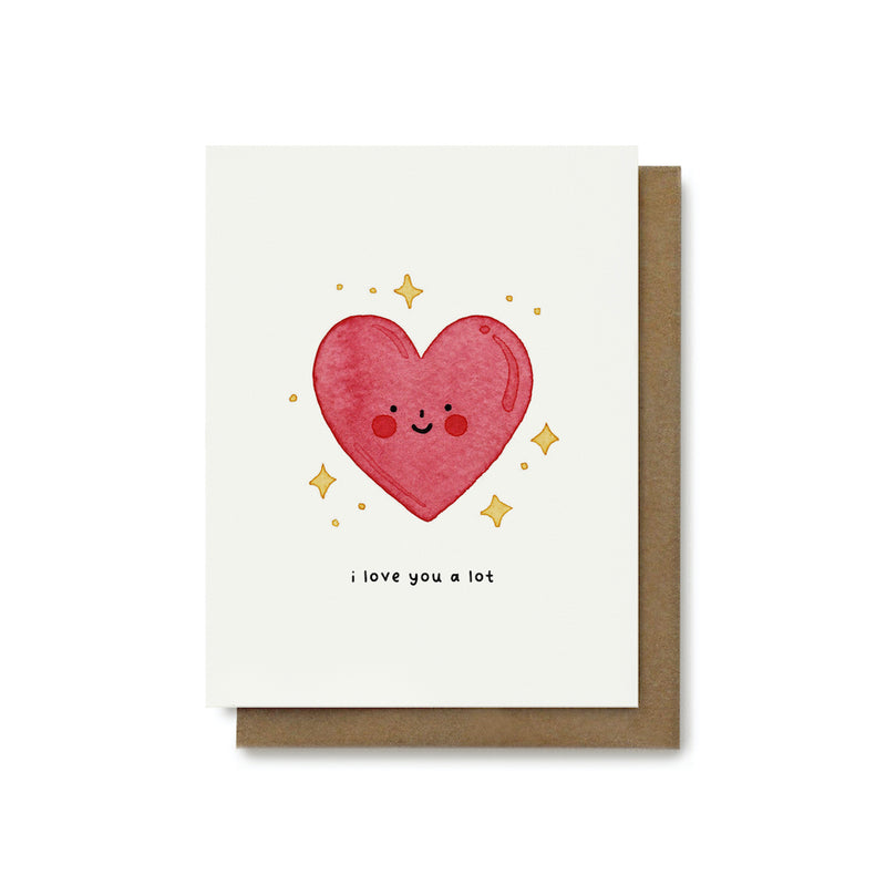 I Love You A Lot Heart Card