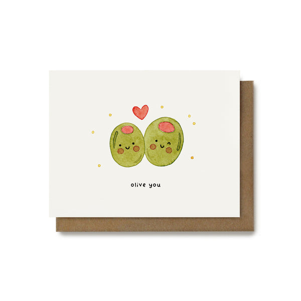Olive You Pun Card