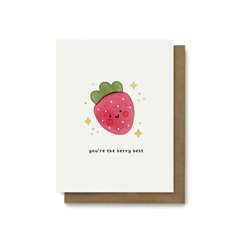 You're The Berry Best Pun Card