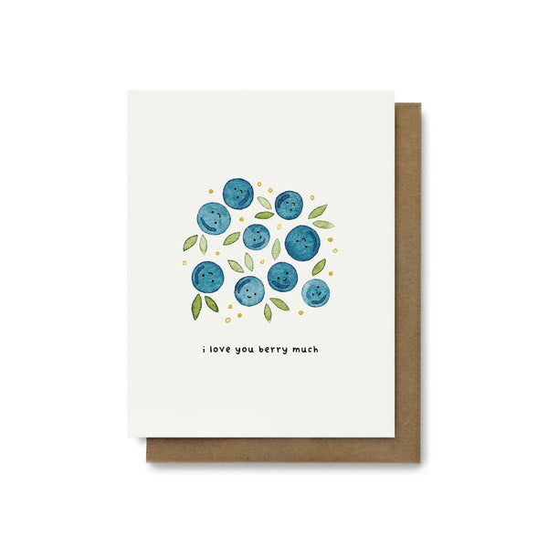I Love You Berry Much Pun Card