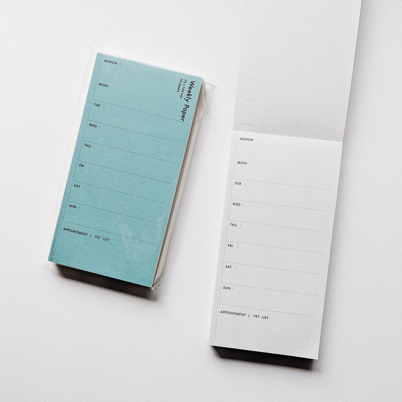 Weekly Planner Pocket Notepad by Drop Around x Classiky