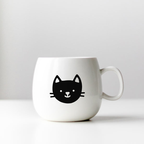 Cute Black Cat Decal