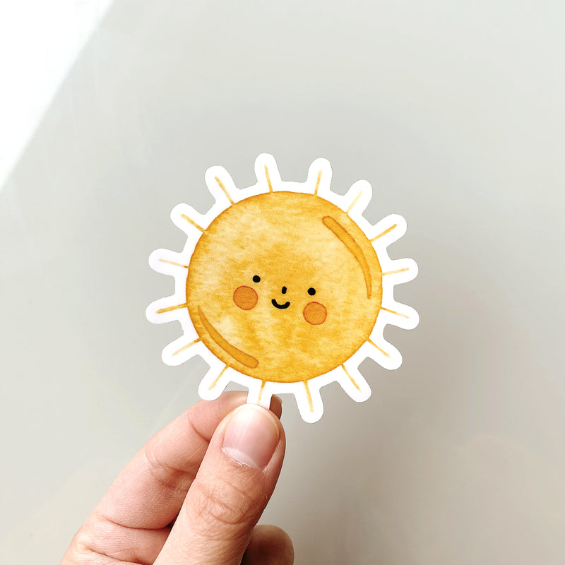 Sunshine Watercolor Decal Sticker