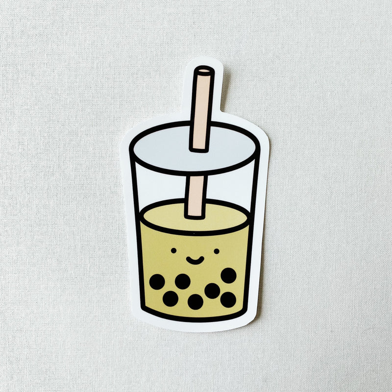 Matcha Boba Milk Tea Sticker