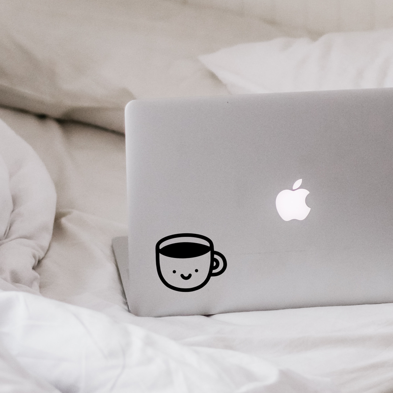 Cute Coffee Cup Decal