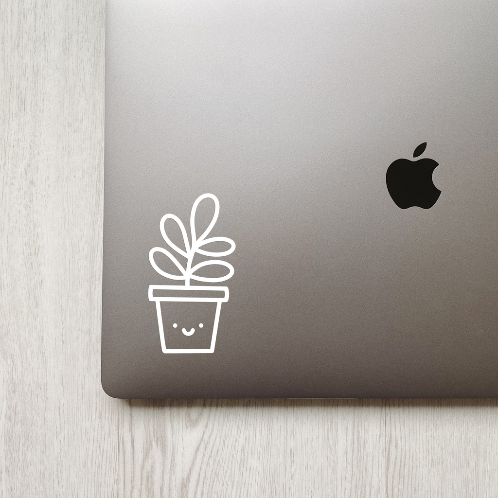 Cute Succulent Plant Decal Minna May Design