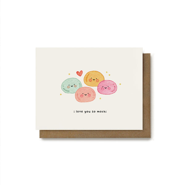 I Love You So Mochi Pun Card