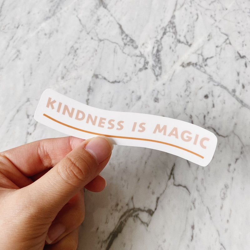 Kindness is Magic Sticker