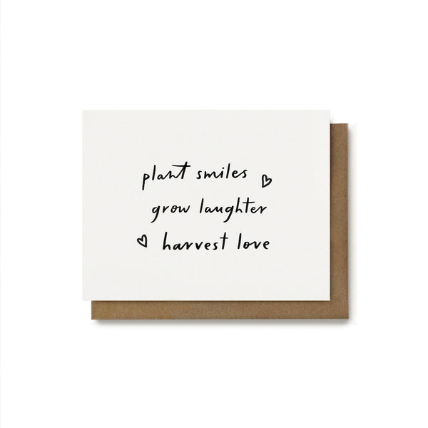 Plant Smiles Quote Card