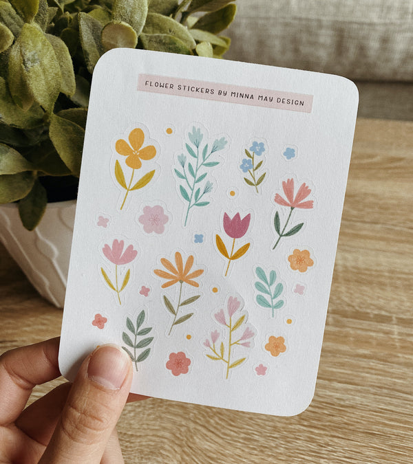 Flower Garden Sticker Sheet