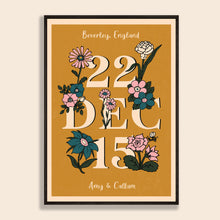 Load image into Gallery viewer, Love Date Personalised Print
