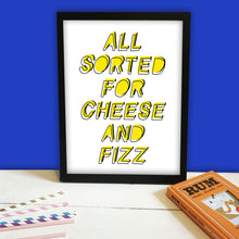 Load image into Gallery viewer, Cheese & Fizz Print