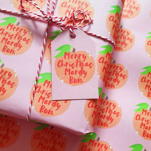 Merry Christmas Mardy Bum Wrapping Paper