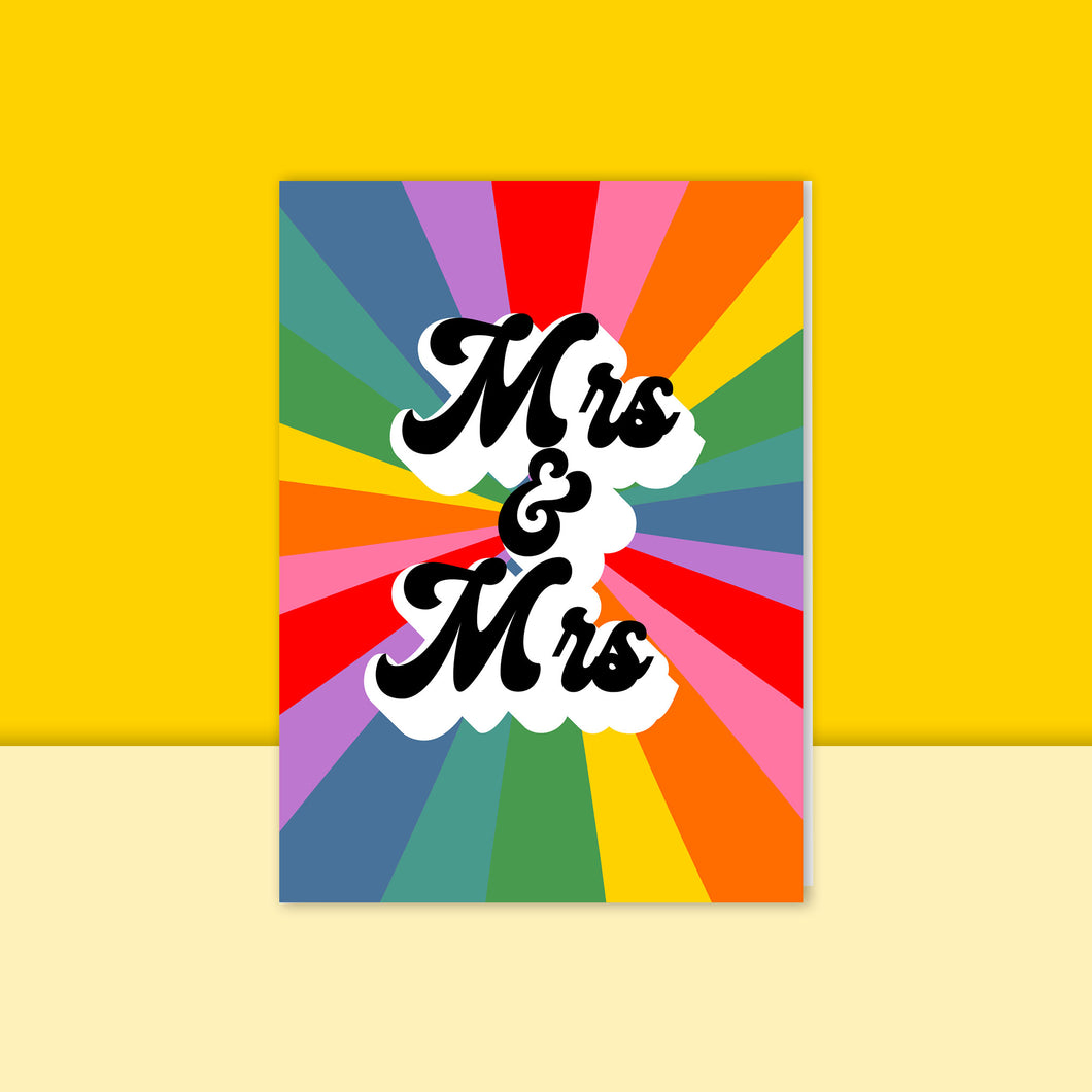 Mrs & Mrs Rainbow Card