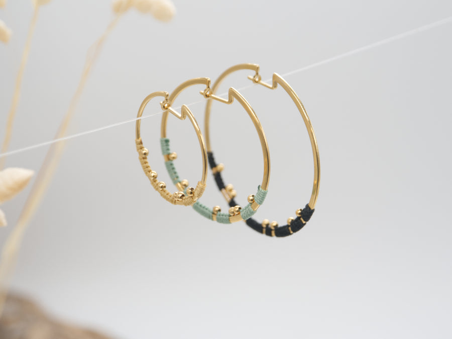 GOLD ORBIT EARRINGS