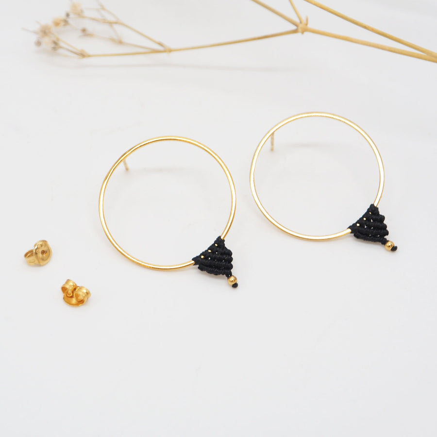 GOLD COMPASS EARRINGS L