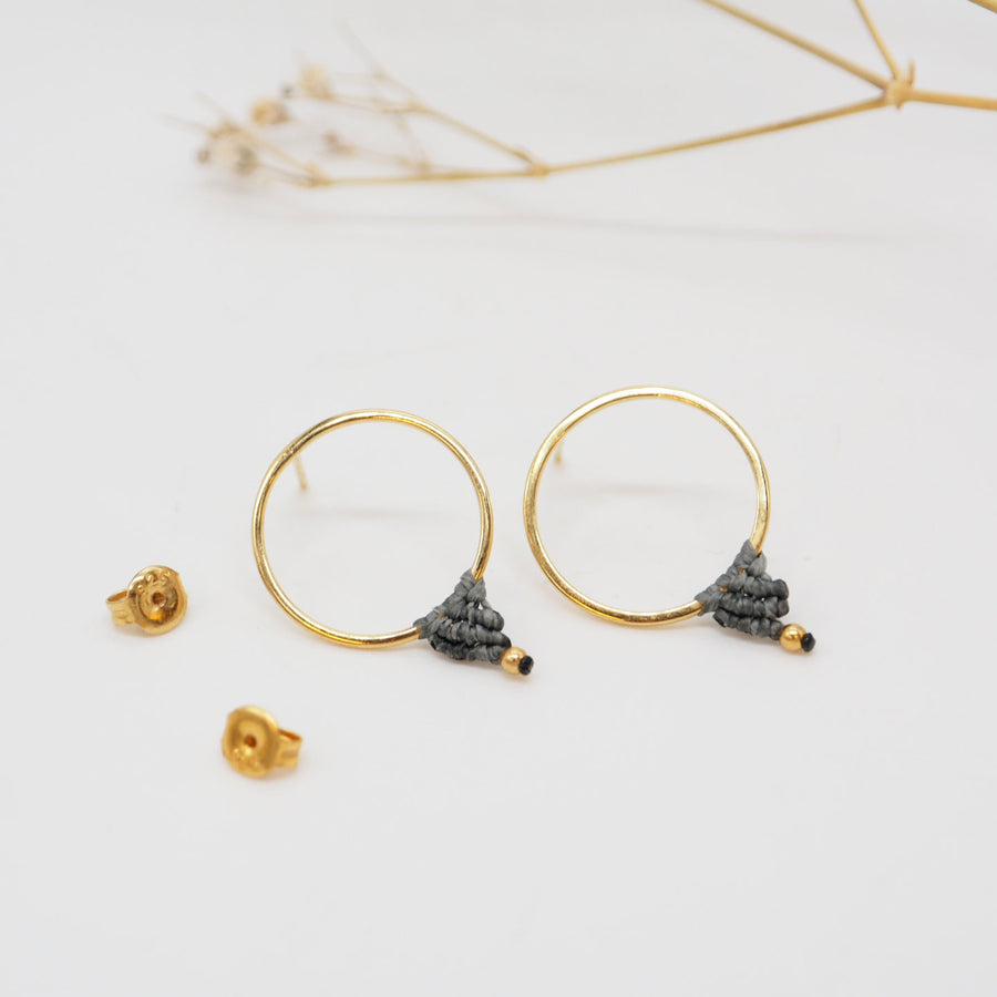 GOLD COMPASS EARRINGS M