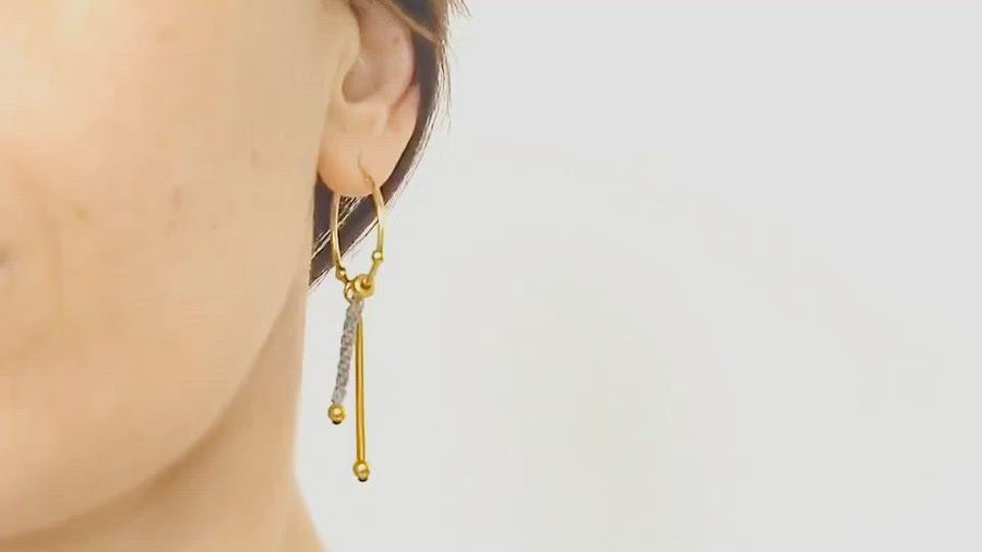 GOLD ZEN EARRINGS