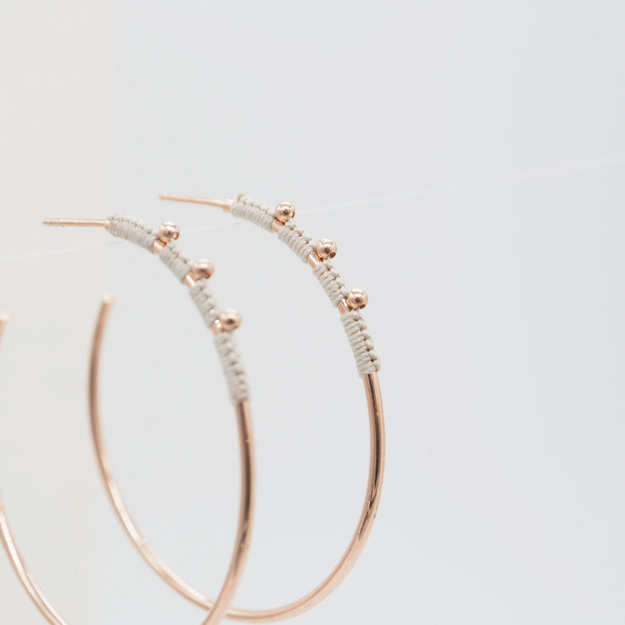 EARRINGS MIA G. PINK GOLD