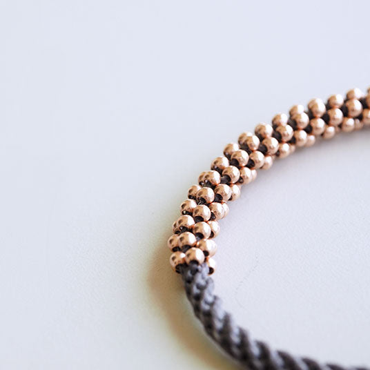 MEDIUM ROSE GOLD SERPENTINE BRACELET