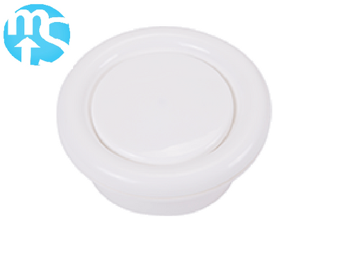 125mm Round Plastic Ceiling Valve With Fixing Ring
