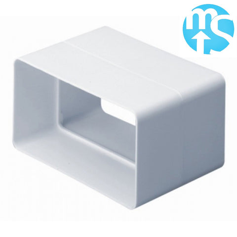110mm x 54mm Flat Rectangular Ducting Connector *Join 2 lengths of ducting*