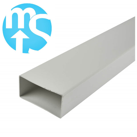 Flat Rectangular Ducting 110mmx54mm *500mm or 1000mm Lengths*