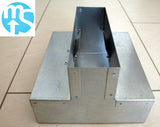 204 x 60mm Galvanised Vertical T Piece